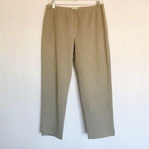Eileen Fisher Pants Tan Organic Cotton Khaki PM